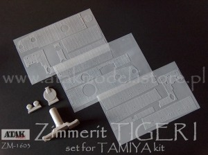 ZM-1603 ZIMMERIT TIGER I Early Model for TAMIYA kit