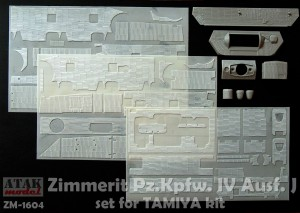 ZM-1604 ZIMMERIT Pz.Kpfw. IV J for TAMIYA kit