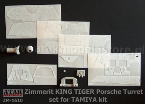 ZM-1610 ZIMMERIT KING TIGER Porsche Turret for TAMIYA kit