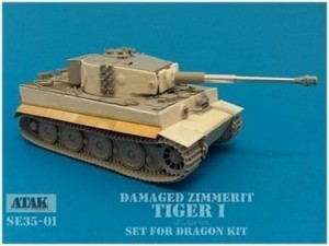 SE35-01 TIGER I DAMAGED ZIMMERIT