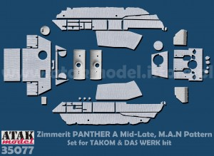 35077 Zimmerit Panther  A Late, M.A.N Pattern (TAKOM)