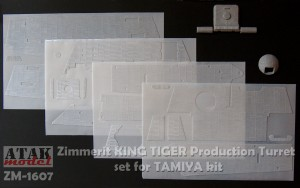 ZM-1607 ZIMMERIT KING TIGER Henschel Turret for TAMIYA kit