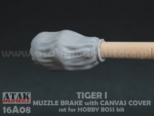 16A08 TIGER I MUZZLE BRAKE with CANVAS COVER
