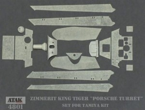 4801 ZIMMERIT KING TIGER Porsche Turret