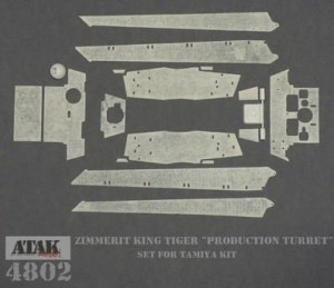 4802 ZIMMERIT KING TIGER Production Turret