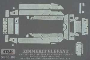 SE35-06 ZIMMERIT ELEFANT s.Pz.Abt. 653, ITALY 1944 (Model 2)