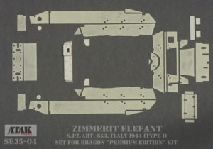 SE35-04 ZIMMERIT ELEFANT s.Pz.Abt. 653, ITALY 1944 (Model 1)