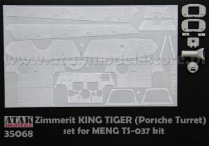 35068 ZIMMERIT KING TIGER (Porsche Turret) MENG
