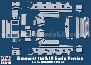 35018 ZIMMERIT STURMGESCHUTZ IV Early Version