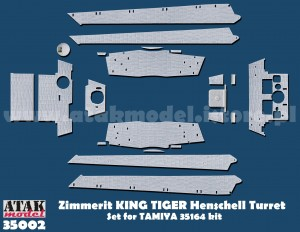35002 ZIMMERIT KING TIGER Production Turret