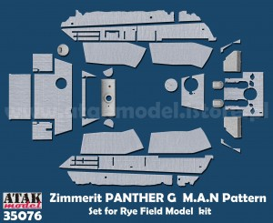 35076 Zimmerit Panther G (RFM) M.A.N Pattern