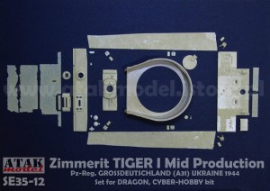 SE35-12 Zimmerit TIGER I Mid Production, Pz-Reg. GROSSDEUTSCHLAND (A31) for DRAGON kit