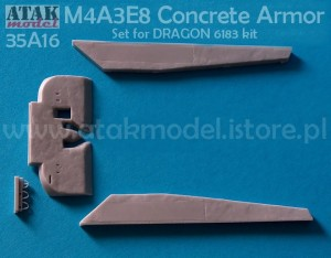 35A16 M4A3E8 CONCRETE ARMOR set for 6138 DRAGON kit